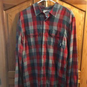 Vans men's red flannel shirt size large